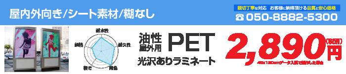 屋外PET/光沢あり